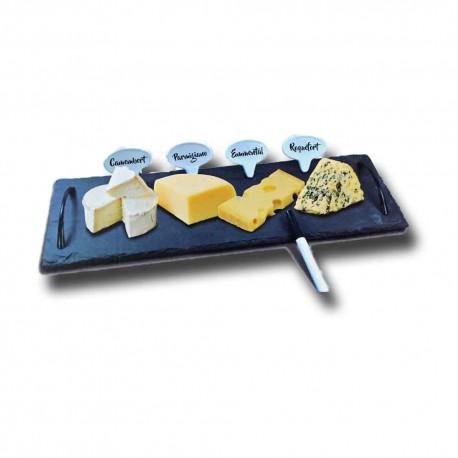 Tabla de pizarra para quesos