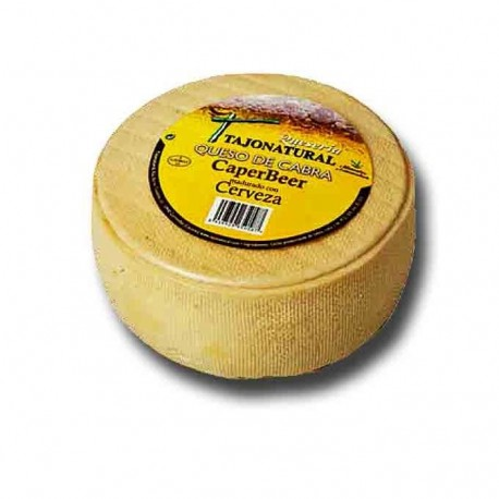 Goat cheese matured in beer