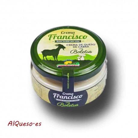 Cema de queso de cabra con boletus