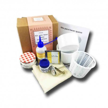 Kit for making cheese without Lactosa