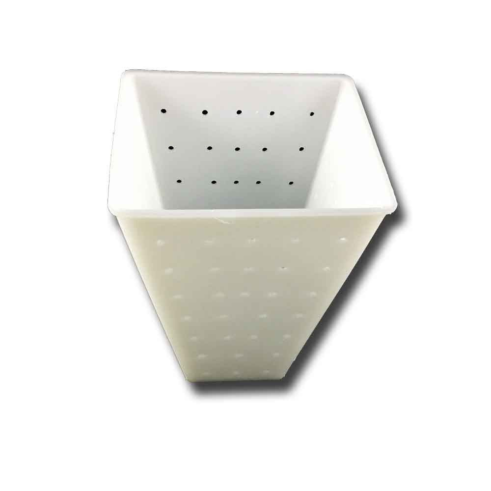 Cheese mold with truncated pyramid shape