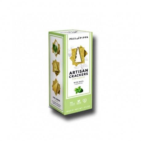 Crackers para Queso a la Albahaca